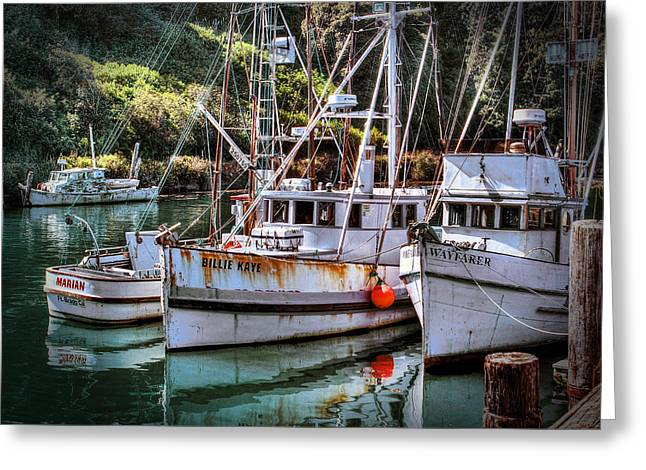 Fishing Boats In Fort Bragg Greeting Card