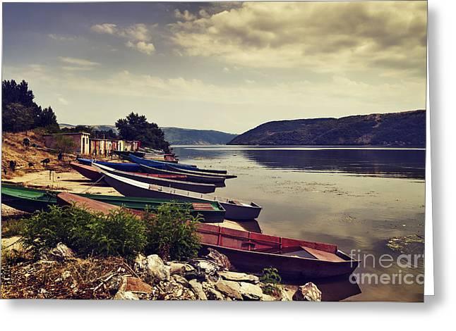 Fishing Boats  Greeting Card by Jelena Jovanovic