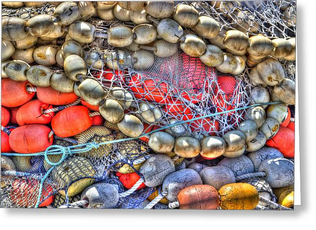 Fishing Bouys Greeting Card by Heidi Smith