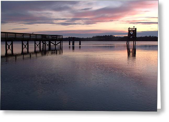 Greeting Card featuring the photograph Fishing Dock Pastel by Suzy Piatt