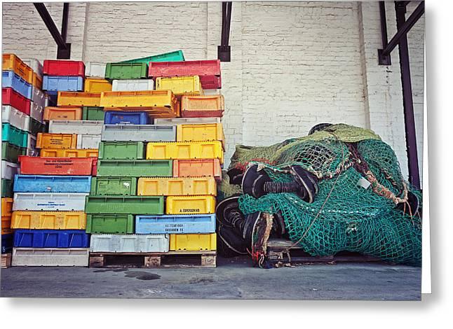 Fishing Equipment Greeting Card by Benjamin Matthijs