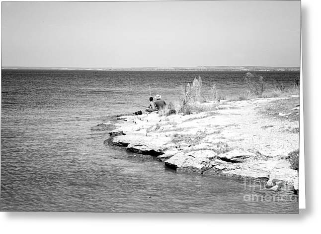 Greeting Card featuring the photograph Fishing by Erika Weber