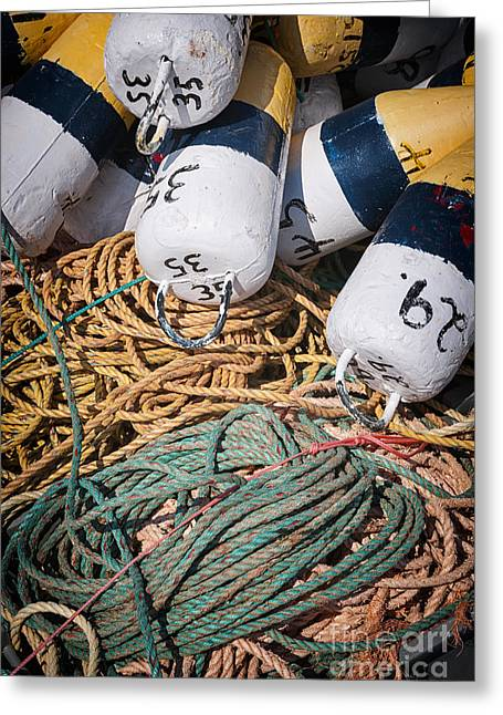 Fishing Floats And Rope Greeting Card