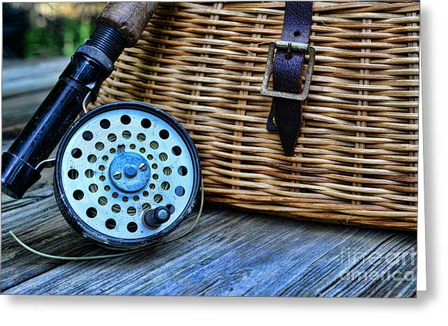 Fishing - Fly Fishing Greeting Card by Paul Ward