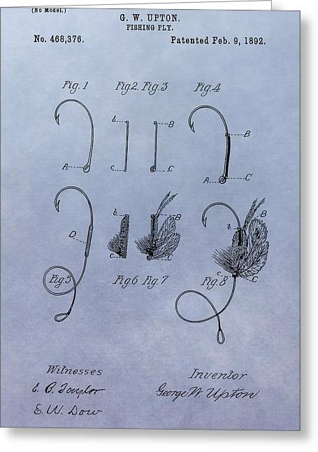 Fishing Fly Patent Greeting Card by Dan Sproul