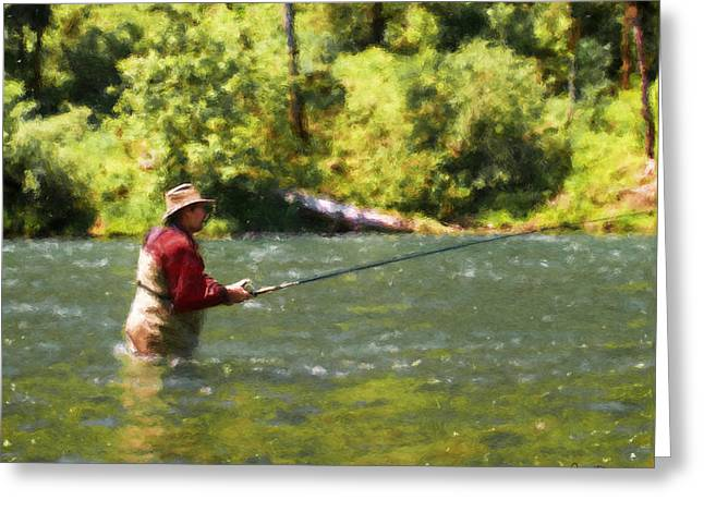 Fishing For Salom Greeting Card