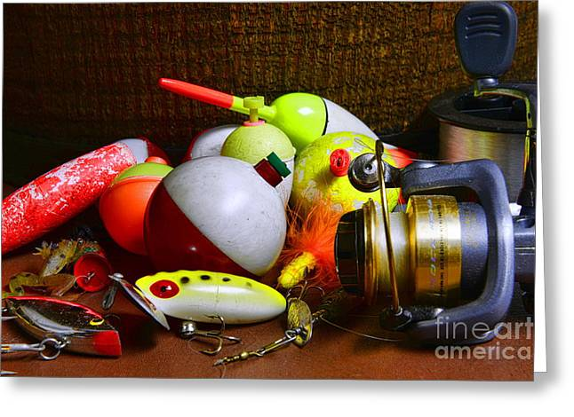 Fishing - Freshwater Tackle Greeting Card by Paul Ward