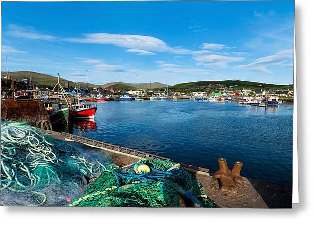 Fishing Harbor, Dingle Harbour, Dingle Greeting Card