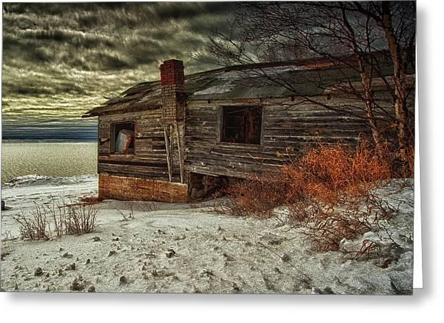 Fishing Hut Lake Superior Greeting Card by Jakub Sisak