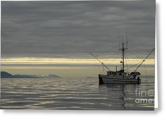Fishing In Alaska Greeting Card