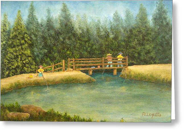 Fishing In New England Greeting Card by Pamela Allegretto
