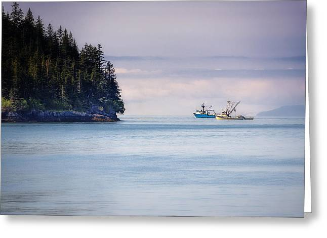 Fishing In Prince William Sound Greeting Card by Vicki Jauron