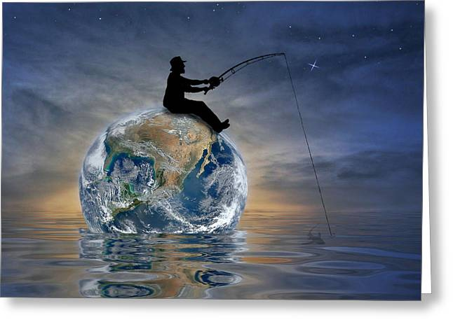 Fishing Is My World Greeting Card