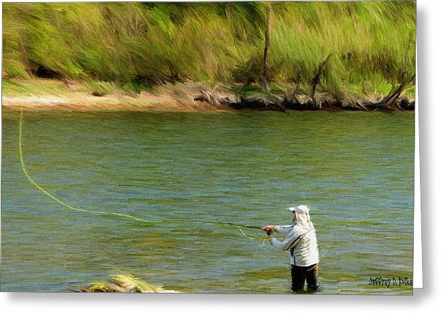 Fishing Lake Taneycomo Greeting Card by Jeffrey Kolker