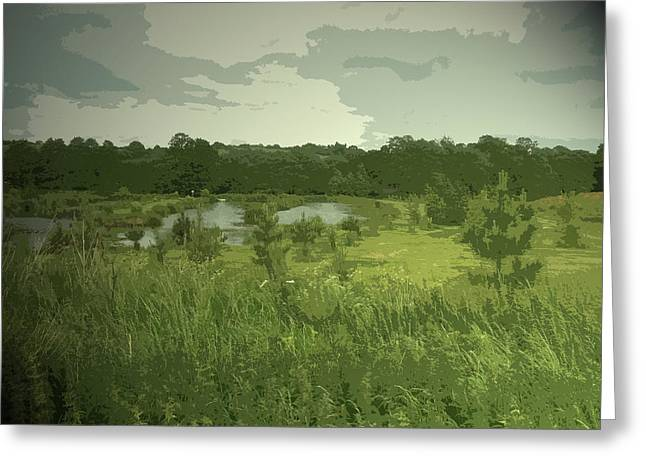 Fishing Lakes Near Ednaston, Birch House Fishing Lakes Greeting Card