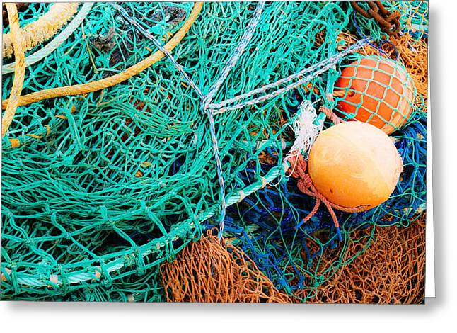 Fishing Nets And Floats Greeting Card by Jane McIlroy