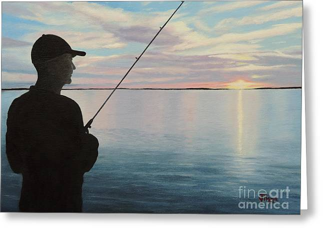 Fishing On The Flats Greeting Card by Jimmie Bartlett