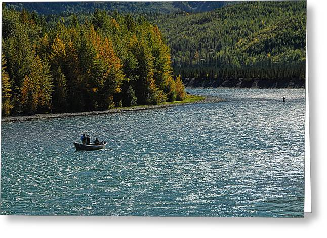 Fishing On The Kenai River Greeting Card by Dyle   Warren