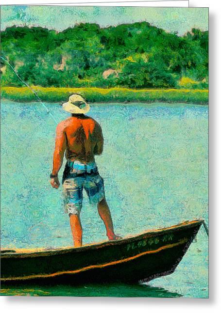 Fishing On The Matanzas Greeting Card