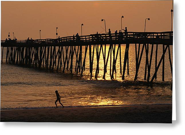 Fishing Pier At Rodanthe, North Greeting Card by Steve Winter