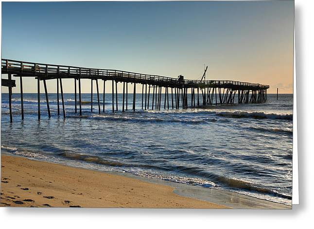 Fishing Pier I Greeting Card by Steven Ainsworth