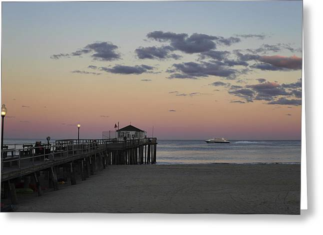 Ocean Grove Nj Fishing Pier Greeting Card by Terry DeLuco