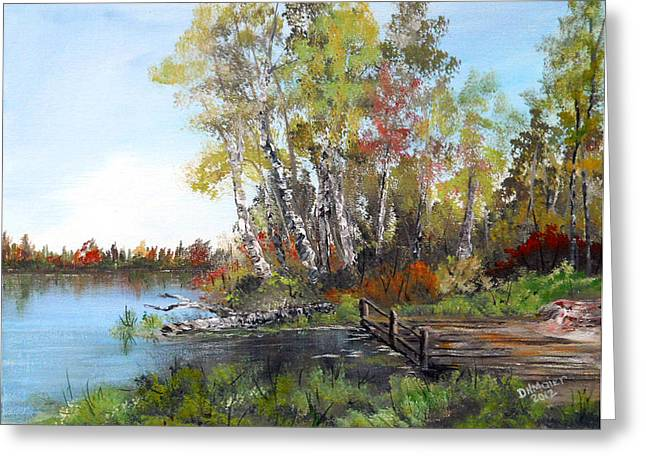Fishing Spot Greeting Card by Dorothy Maier
