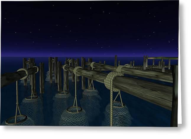 Greeting Card featuring the digital art Fishing by Susanne Baumann