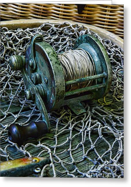 Fishing - That Old Fishing Reel Greeting Card by Paul Ward