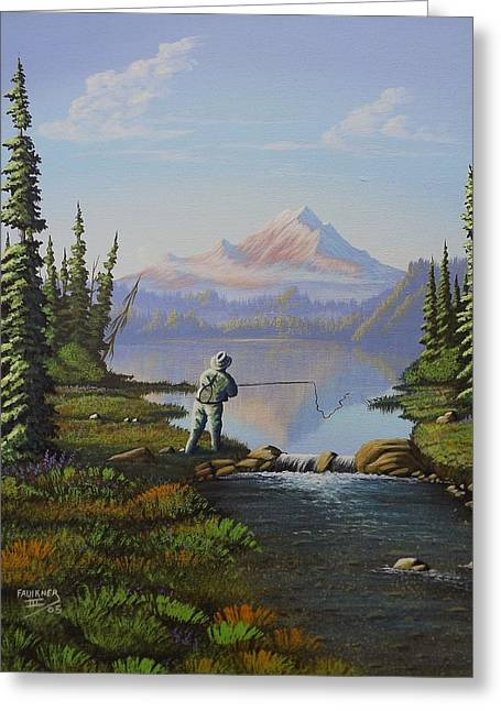Fishing The High Lakes Greeting Card