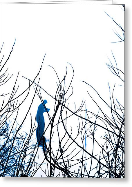 Greeting Card featuring the photograph Fishing The River Blue by Robyn King