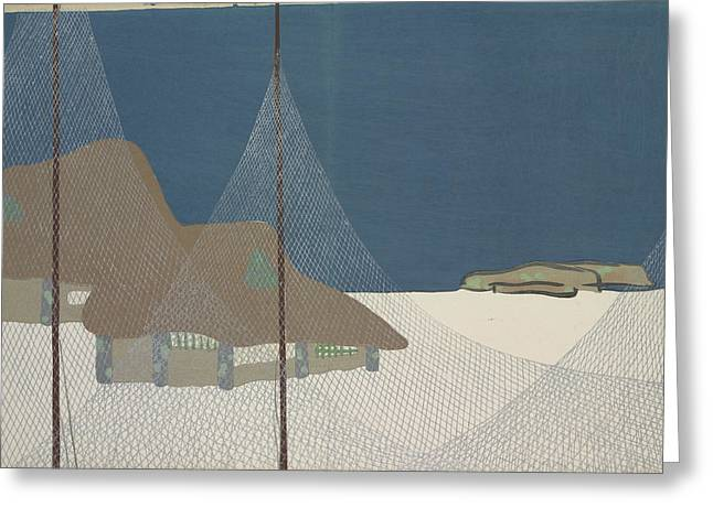 Fishing Village, Kamisaka, Sekka, Artist Greeting Card by Artokoloro