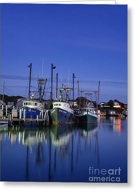 Fishing Village Of Menemsha Greeting Card by John Greim