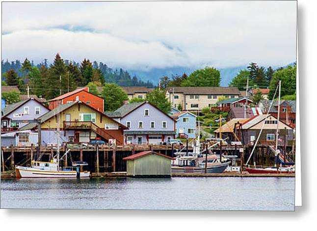 Fishing Village On Lakeshore, Sitka Greeting Card