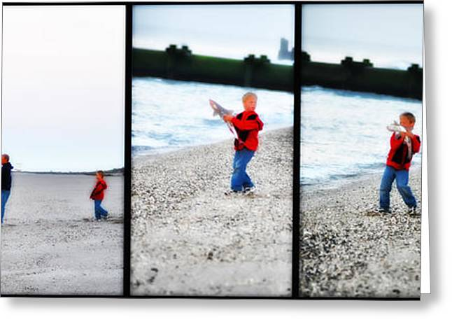 Fishing With Dad - Catch And Release Greeting Card by Bill Cannon