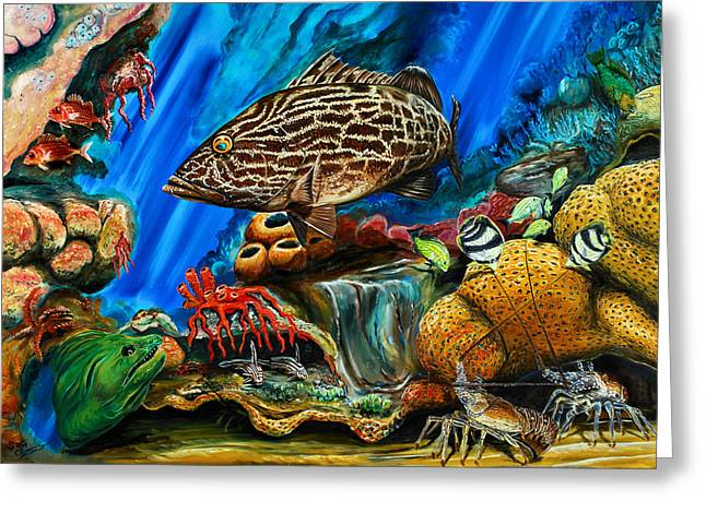 Fishtank Greeting Card by Steve Ozment