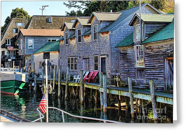 Fishtown Leland Michigan Greeting Card