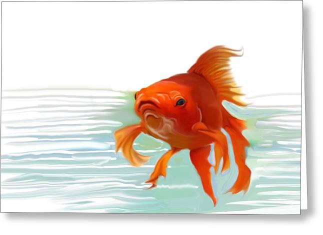 Fishy Fishy Fish Greeting Card by Christian Kolle