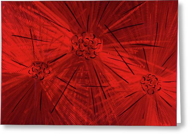 Fission II Greeting Card by Rick Roth
