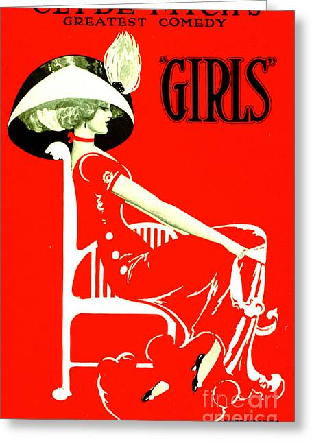 Fitch's Comedy 'girls' 1910 Greeting Card by Padre Art