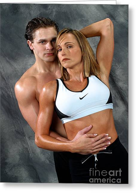 Fitness Couple 27 Greeting Card by Gary Gingrich Galleries