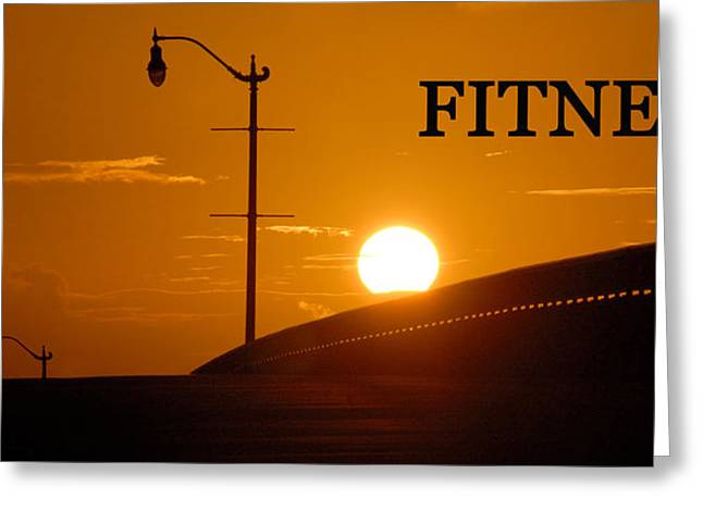 Fitness Greeting Card by David Lee Thompson