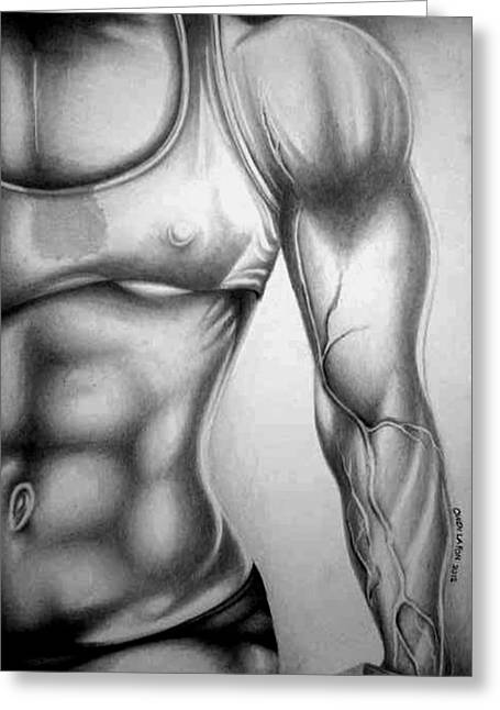 Fitness Model 3 Greeting Card