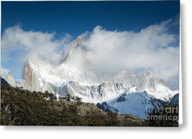Fitz Roy In Clouds Greeting Card