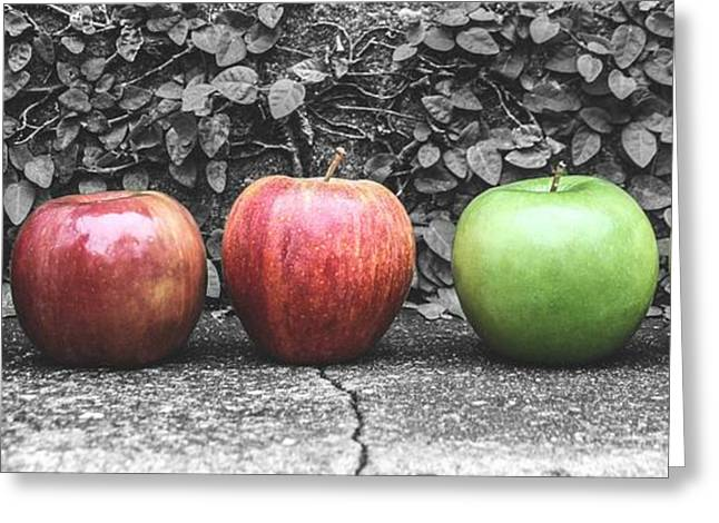 Five Apples  Greeting Card by Steven  Taylor