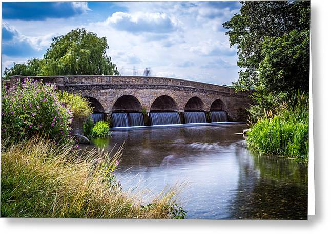 Five Arch Bridge. Greeting Card by Gary Gillette