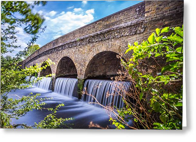 Five Arches And Waterfalls. Greeting Card by Gary Gillette