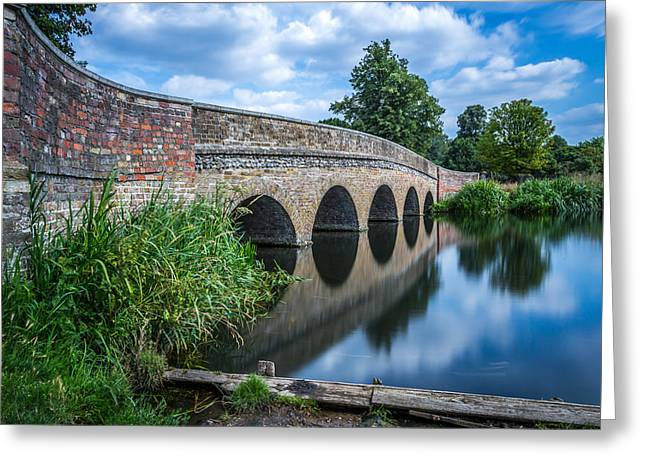 Five Arches Bridge. Greeting Card by Gary Gillette