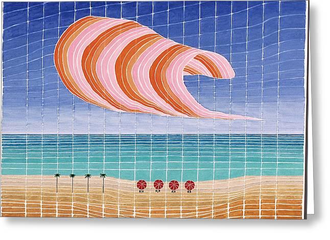 Five Beach Umbrellas Greeting Card