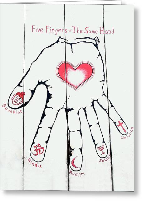 Five Fingers Greeting Card